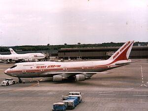 Mein erstes Flugzeug nach Japan, 1996 - Air India