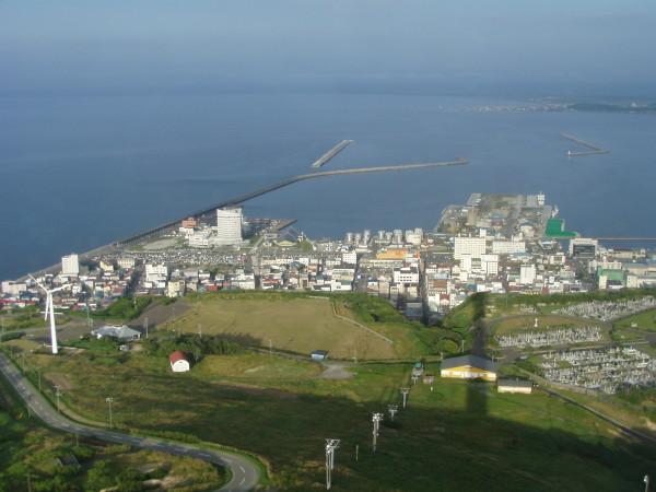 Blick auf den Hafen und das Stadtzentrum