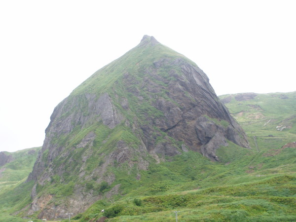 Insel Rebun / Hokkaido: Der Momo-Iwa (Pfirsichfelsen)