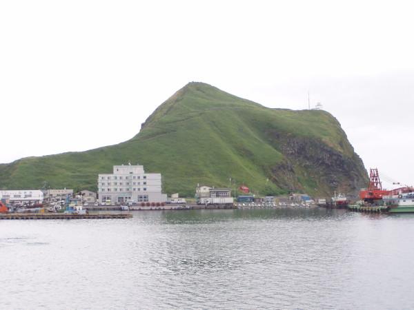 Kap Peshi am Hafen von Rishiri