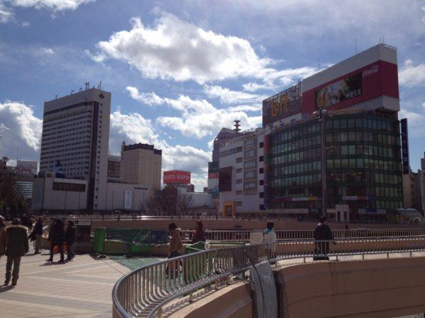 Bahnhofsvorplatz von Sendai