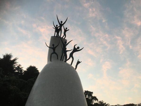 Taro-Okamoto-Skulptur im Ikuta-Park