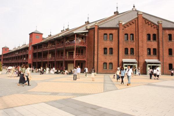 Alte Backstein-Lagerhäuser in Yokohama