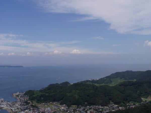 Blick vom Nokogiriyama auf die Bucht von Tokyo