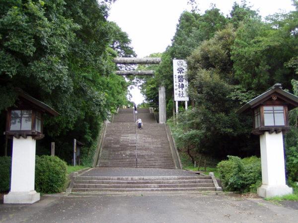 Treppe zum Jōban-Schrein