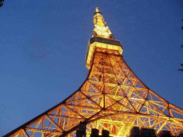 Tokyo Tower - nicht sehr hoch, aber stilvoll