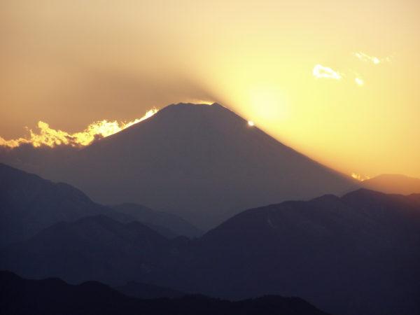 Blick Richtung Fuji-san von Takao aus