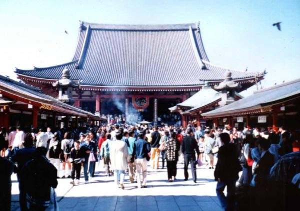 Blick auf das Hauptgebäude des Tempels