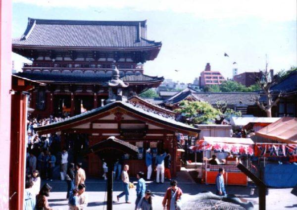 Tempelbezirk rund um die Nakamise-dōri