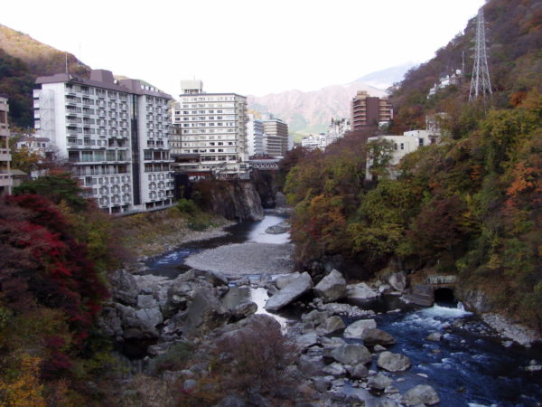 Die Schlucht des Kinugawa nebst Bettenburgen