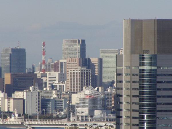 Die Ginza und Chūō-ku von weitem