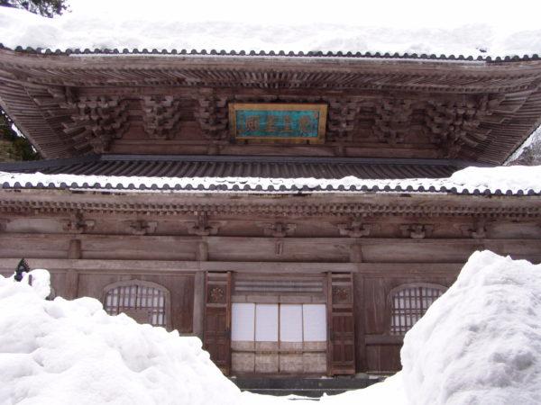 Schneemalheur im Tempel...Im Winter keine Seltenheit