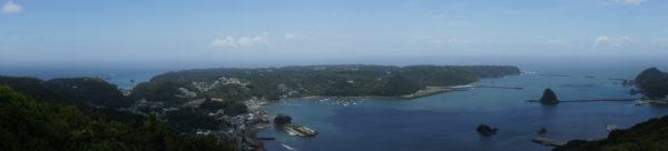 Panorama der Bucht von Shimoda
