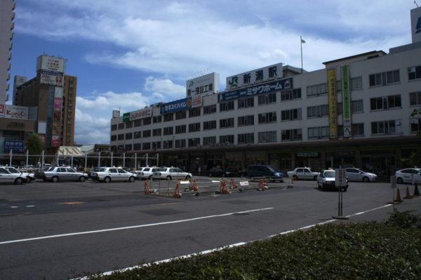 Der weniger attraktive Hauptbahnhof von Niigata