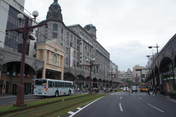Im Zentrum - links das alte Kaufhaus Yamataya