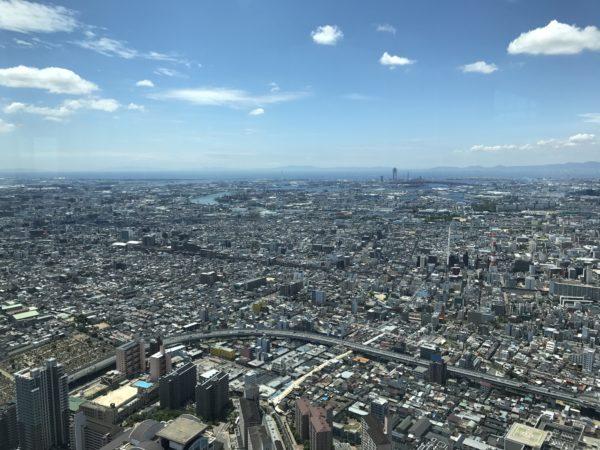 Blick über das Stadtzentrum Richtung Hafen