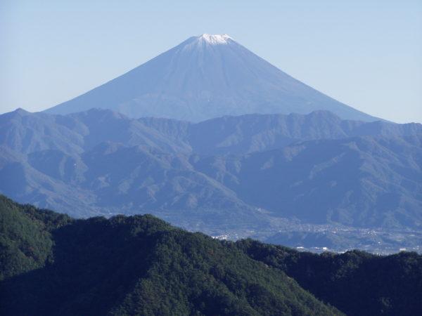 Der Fuji-san von Shosenkyo aus gesehen
