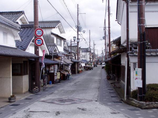Im alten Stadtviertel Kawara-machi