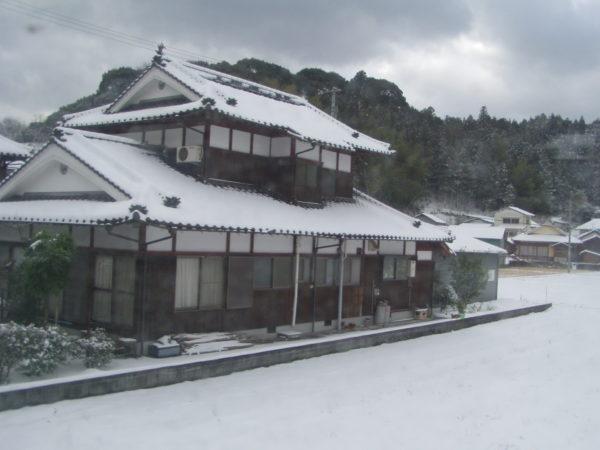 Yawatahama - Landhaus nahe Uchiko - Schnee ist eine Seltenheit hier!