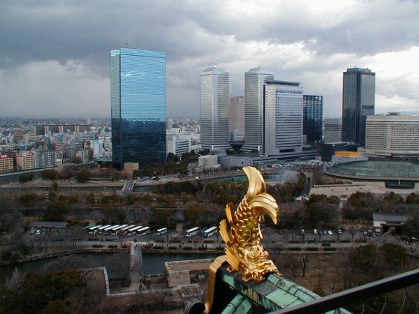 Blick von der Burg auf das Bankenviertel