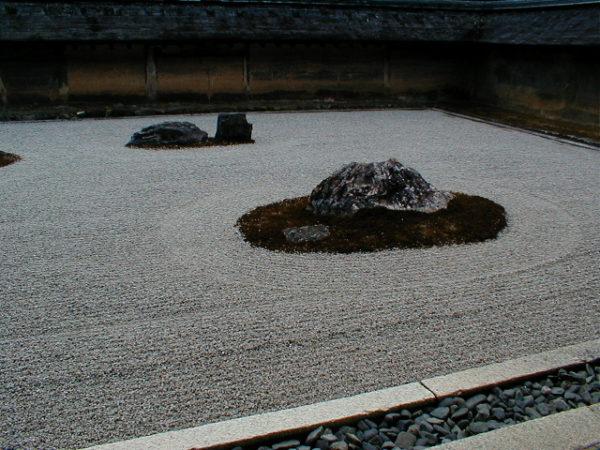 Karesansui (Steingarten) im Ryōan-ji