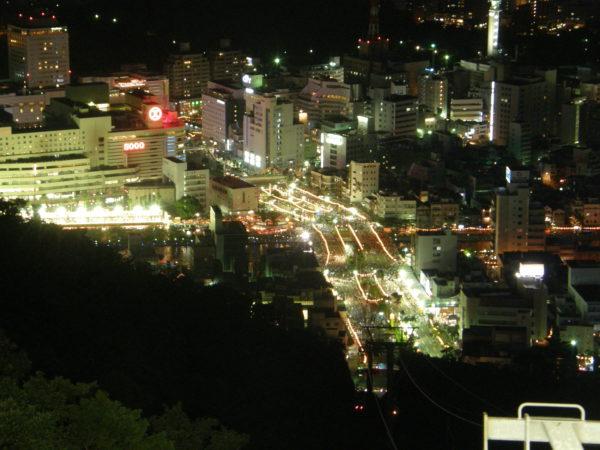 Zentrum von Tokushima - vom Bizan aus gesehen
