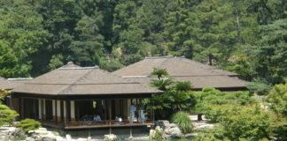 Takamatsu: Teepavillion im Ritsurin-Park