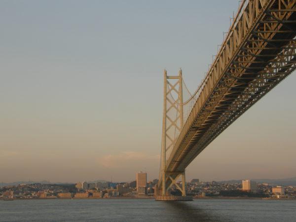 Die grosse Hängebrücke bei Kobe