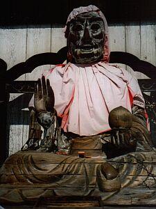 Binzuru-Holzskulptur