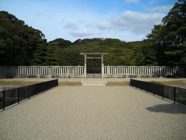 Eins der wichtigsten Kofun-Gräber in Sakai bei Osaka
