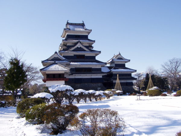 Gesamtansicht des Donjons von Matsumoto-jō