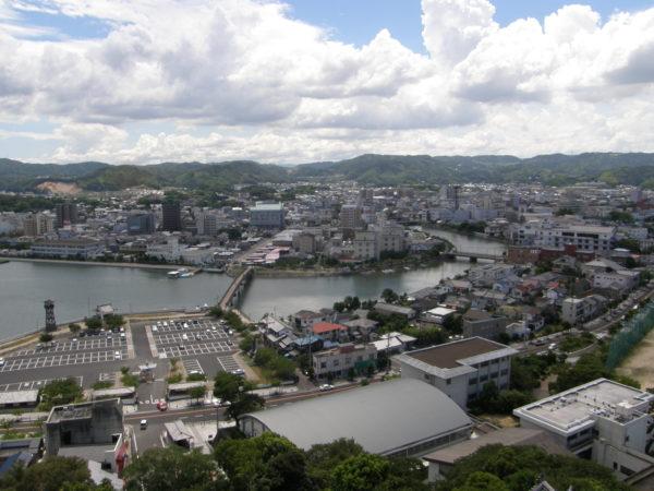Blick von der Burg auf die Innenstadt