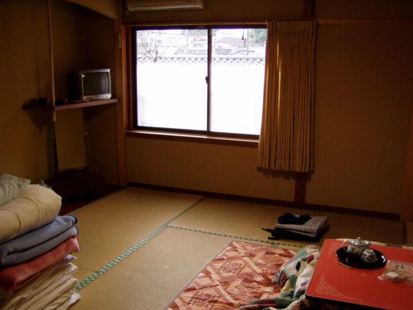 Typisches Minshuku-Zimmer