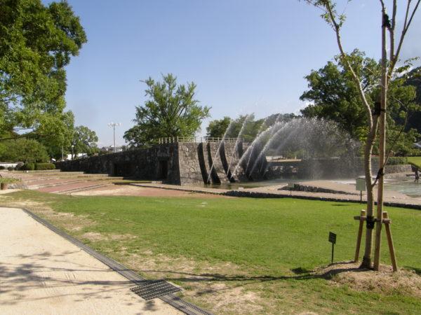 Iwakuni: Springbrunnen im Kikko-Park
