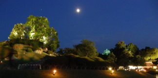 Kōrakuen im Mondschein