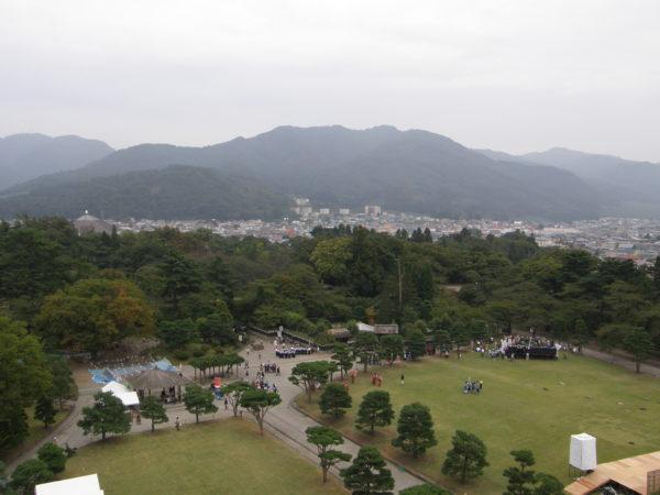 Aizu-Wakamatsu: Blick auf die Stadt