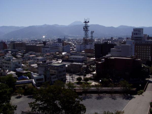 Kofu - Blick auf das Stadtzentrum