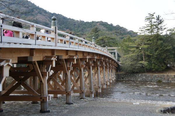 Brücke am Eingang zum Inneren Schrein (Naikū)
