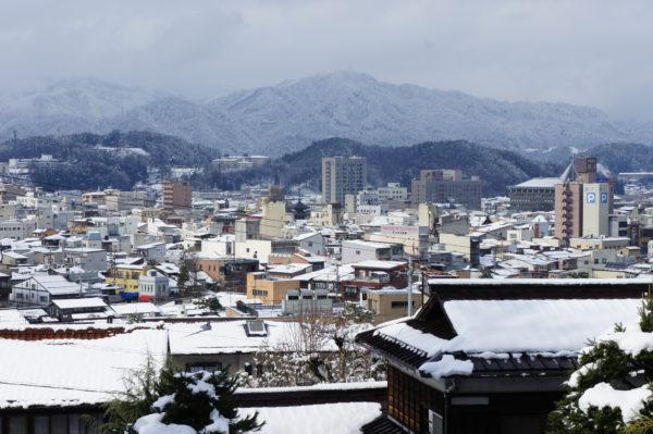 Takayama: Blick vom Burghügel auf die Stadt