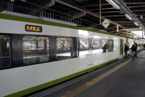 Dieselzug nach Miyako (hier im Bahnhof Morioka)