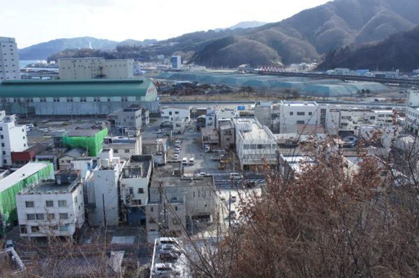 Stadtzentrum nach dem Tsunami