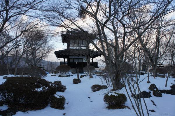 Nabekura-Aussichtsturm im alten Schlosspark