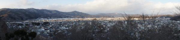 Panorama von Tōno und Umgebung