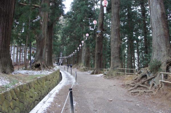 Zederngesäumter Weg zum Chūsonji