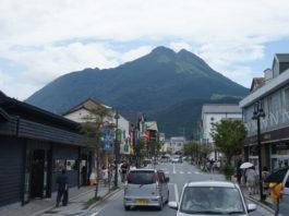 Der Vulkan Yufu-dake ist nicht zu übersehen