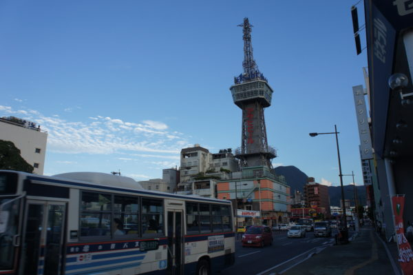 Der Beppu-Tower im Zentrum