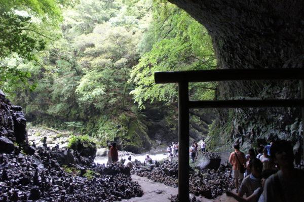 Blick aus der Höhle nach draussen