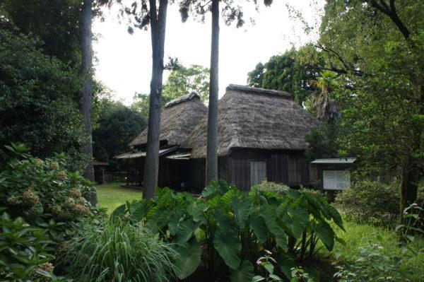Traditionelle Häuser im Freilichtmuseum