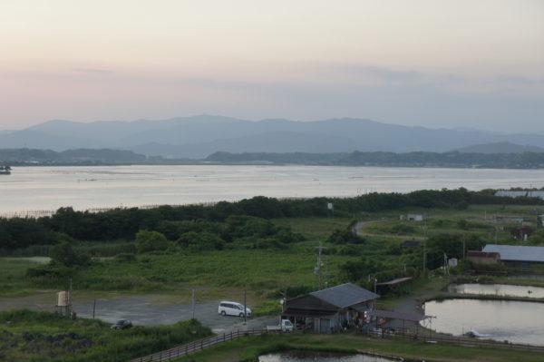 Der Hamanako in der Abenddämmerung