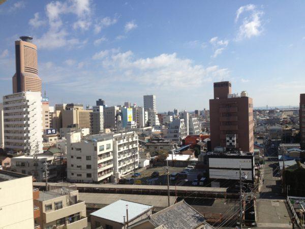 Das Stadtzentrum von Hamamatsu rund um den Hauptbahnhof